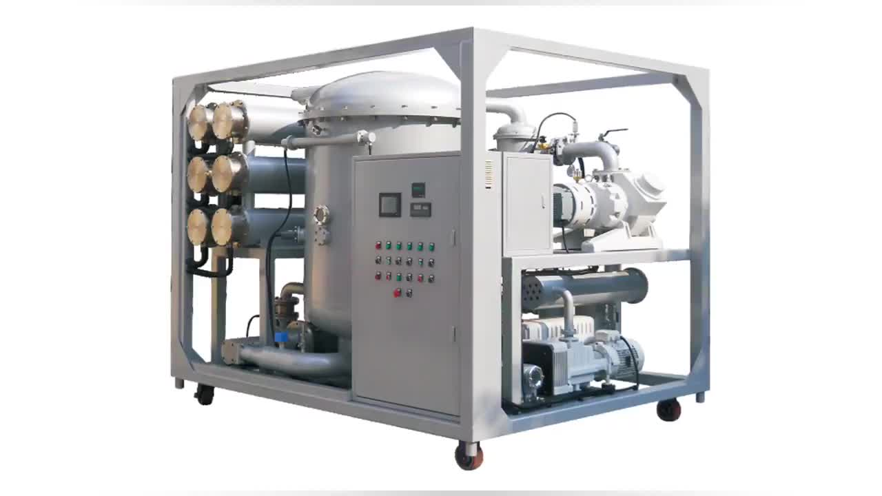 LUSHUN ZJA High Efficiency Two Stage Vacuum Transformer Oil Purifier For Transformer Above 110KV