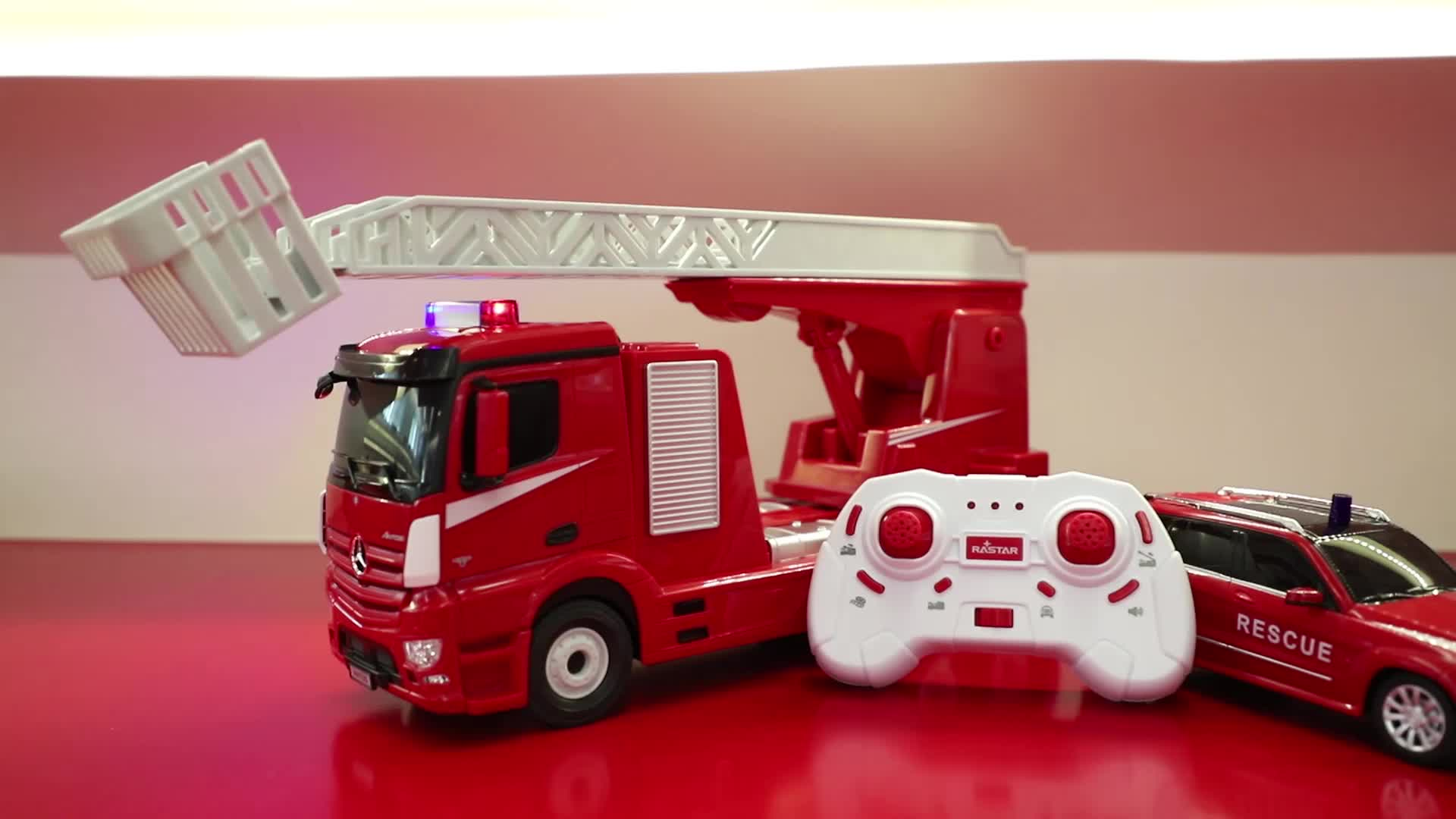 RASTAR gift set Mercedes Benz fire engine rescue car rc toy