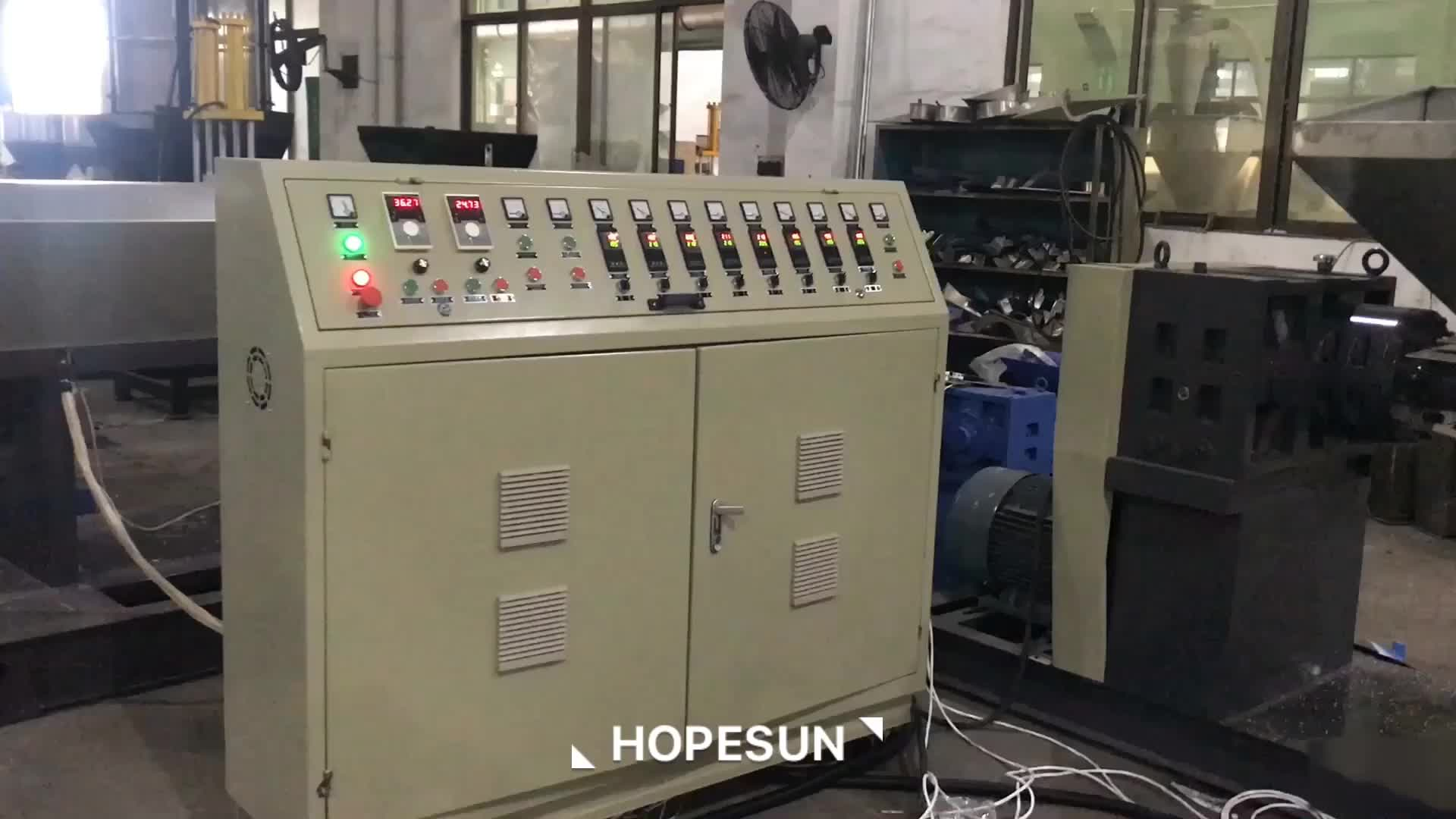 PP PE ABS PS PC PA double stage waste plastic recycling machine