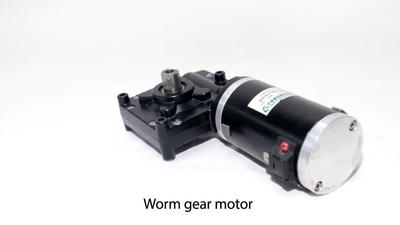 High Torque 12v DC Worm Gear Motor Encoder 24volt Low RPM Worm Gear Motor