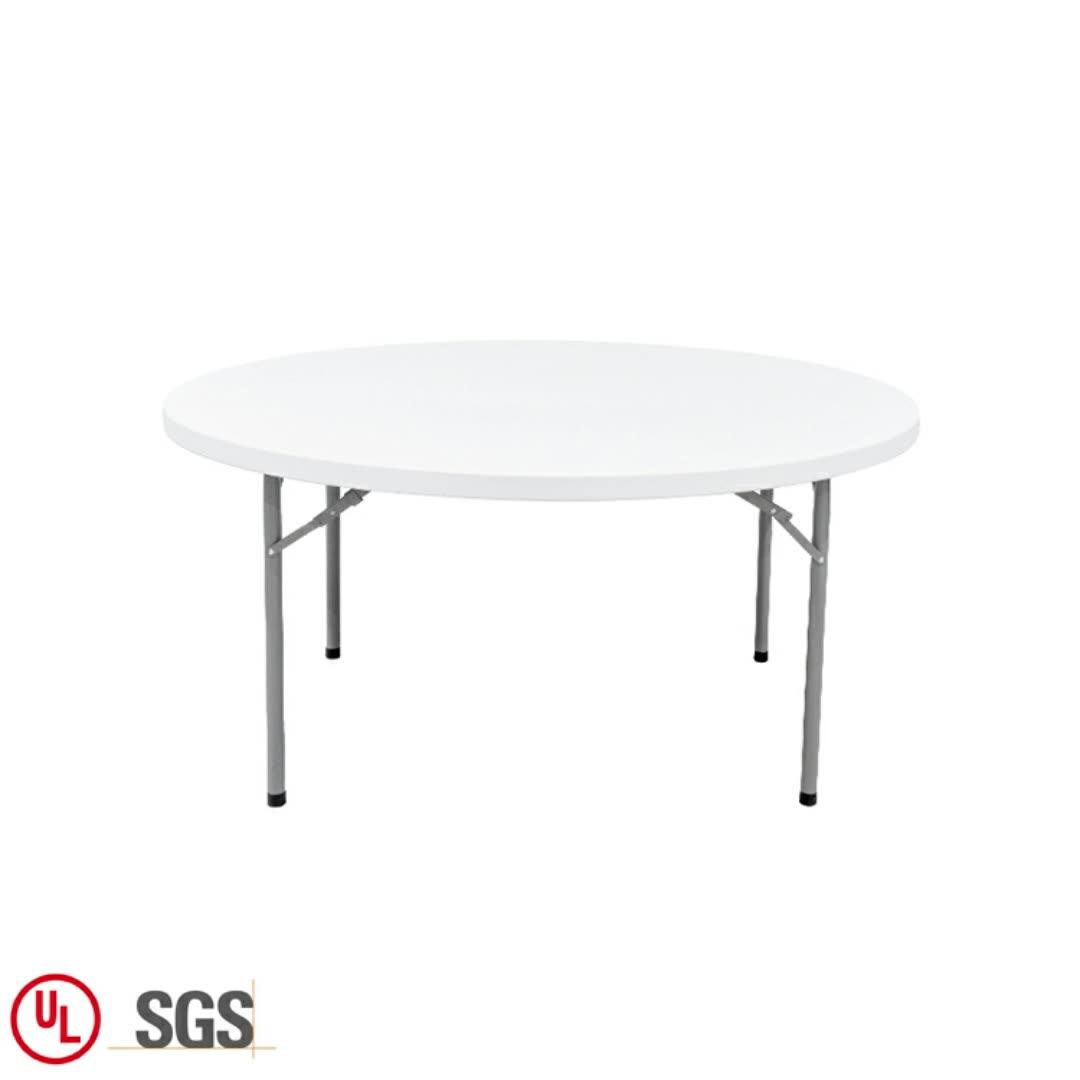 접이식 호텔 레스토랑 접는 원형 유형 연회 테이블