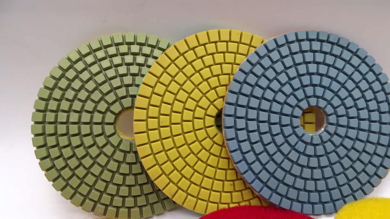 """4""""/100mm wet diamond polishing pad set for granite quartz marble concrete polishing pad tools"""