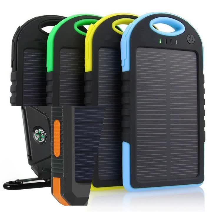 new solar power bank 8000mah portable external battery charger LED light portable solar battery charger for smart phone