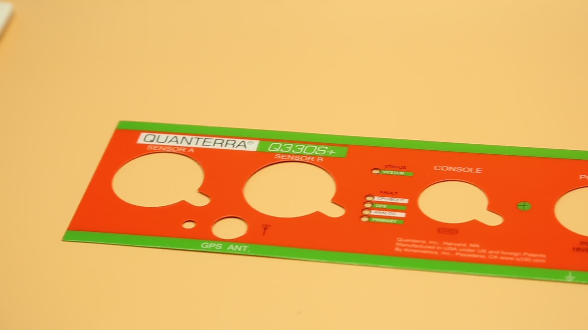 Polycarbonate touch panel printing label