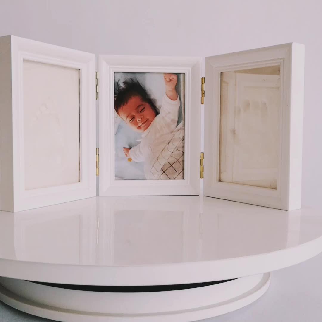 Baby Handprint Kit & Footprint Photo Frame for Newborn Girls and Boys