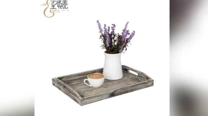 Exquisite workmanship table antique wooden tea  breakfast tray wholesale