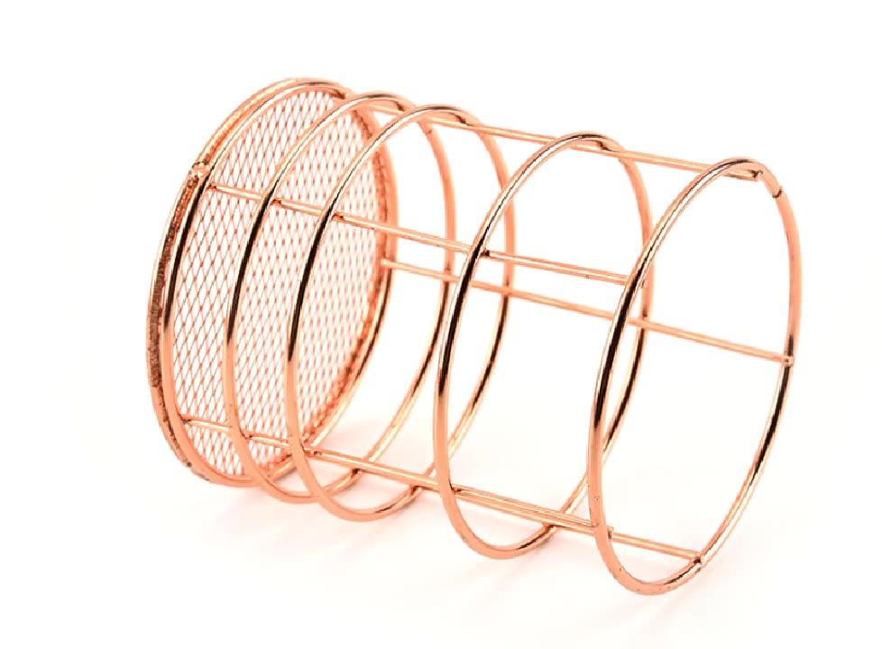 Rose gold Stift Halter Cup für Home-Office Schreibtisch Organisatoren Runde Mini Make-Up Pinsel Lagerung Tidy Büro Veranstalter