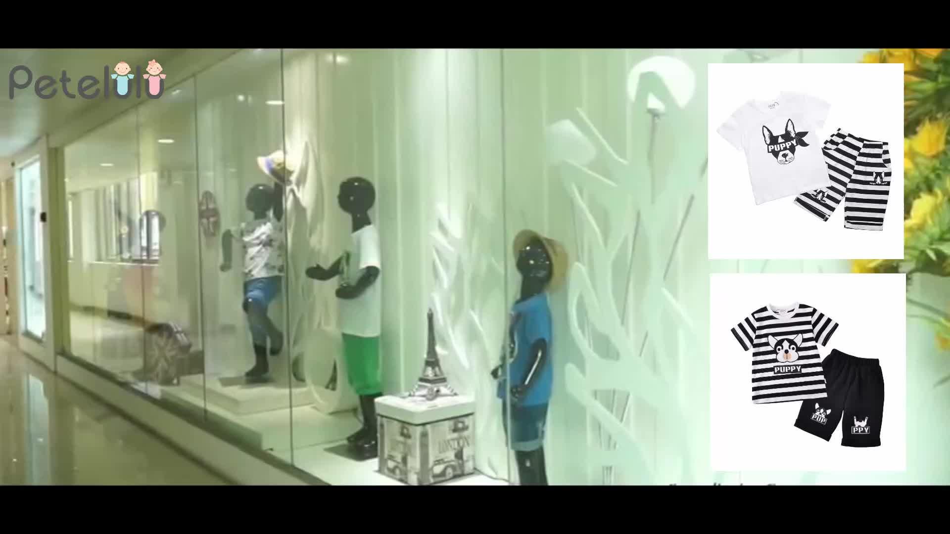 Chine Enfants Vêtements Célèbre Marque Petelulu 100% Coton Garçons Enfants Vêtements D'été Usure