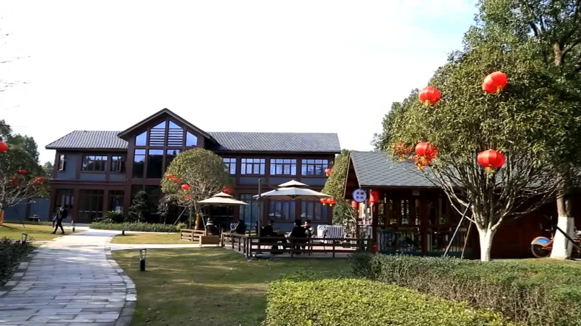 Gaya Jepang Rumah Kayu Prefab/Vila Kayu Prefab/Hotel Kayu Prefab untuk Dijual