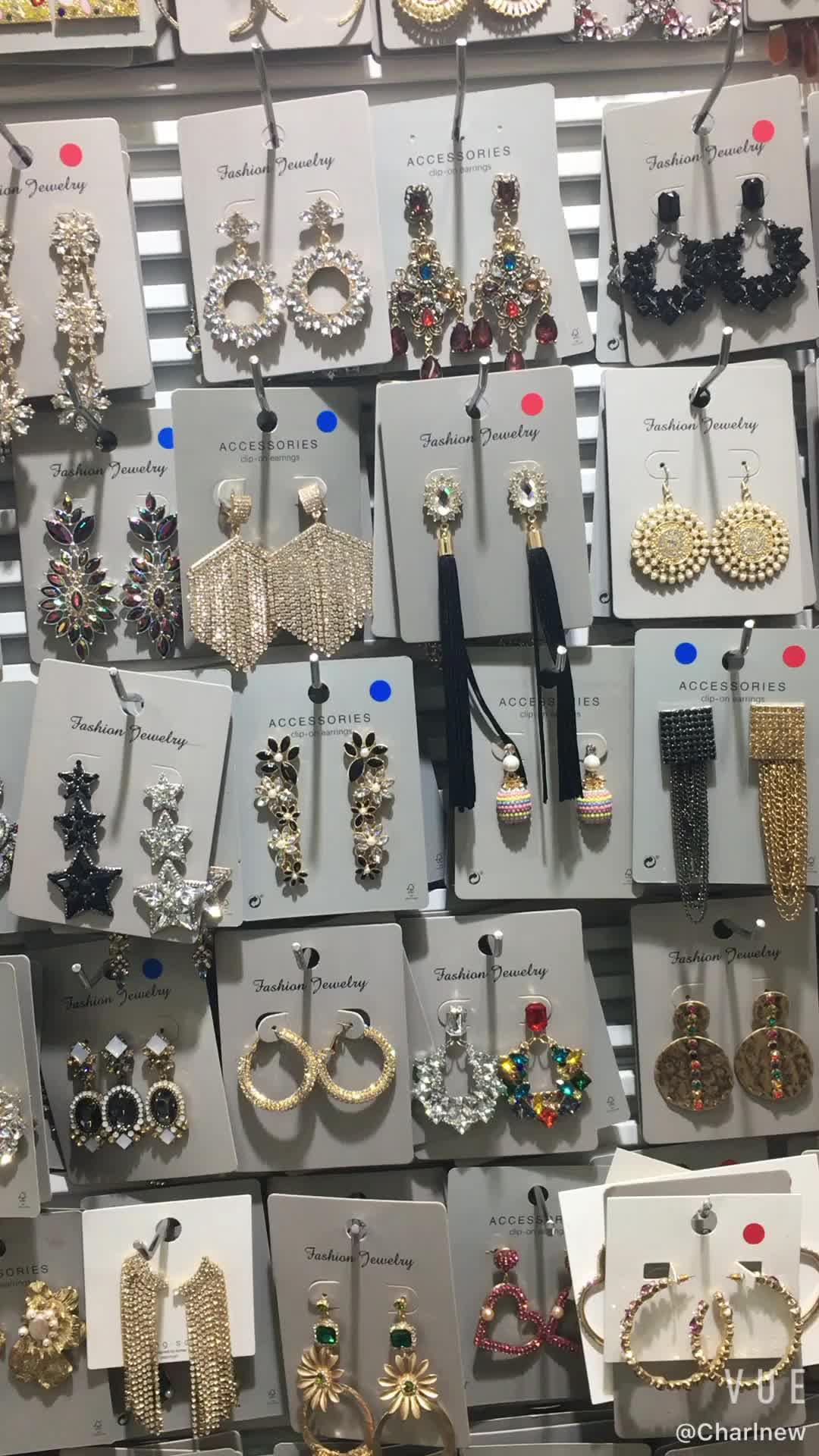 Kaimei ZA 웨딩 쥬얼리 30 디자인 매달려 진술 귀걸이 한국 패션 핑크 수지 드롭 귀걸이