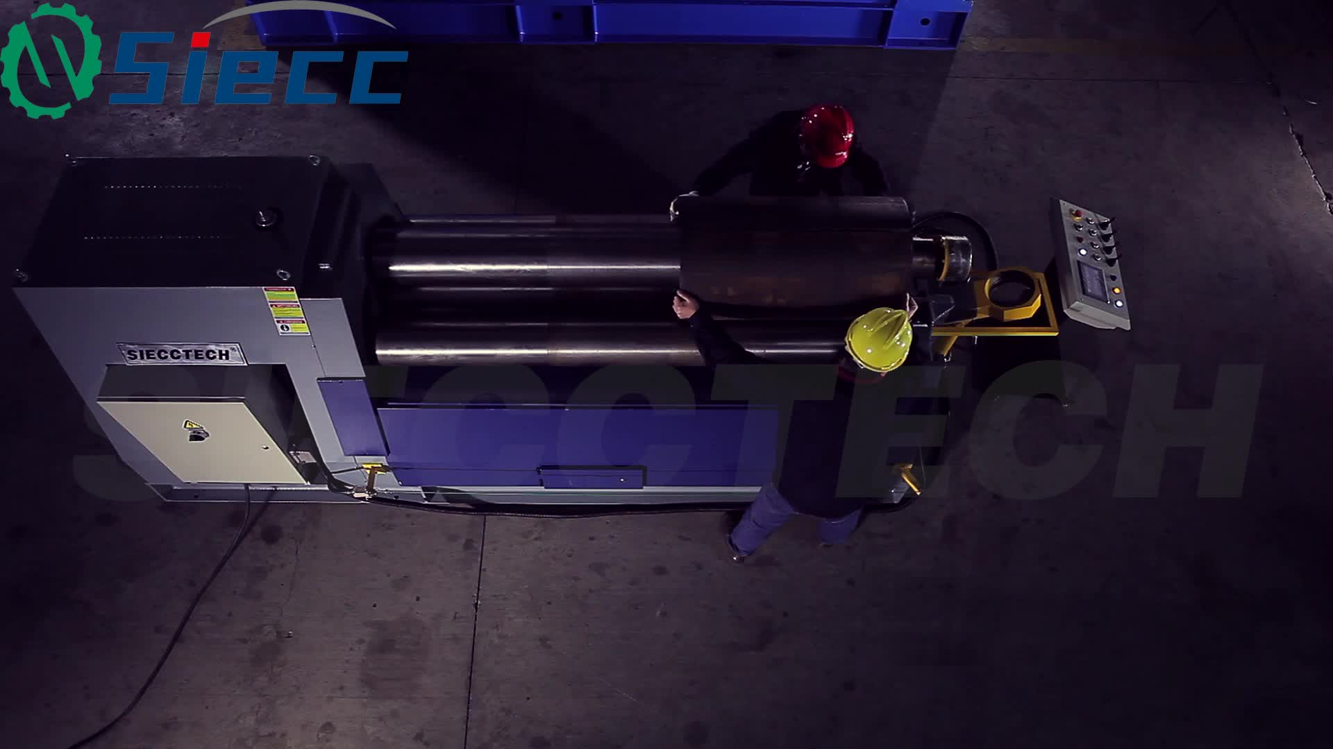 W11 series 4 roller symmetric roll bending machines with ISO certification