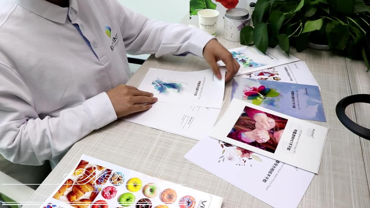 papel autocolante a4 papel adesivo jacto de tinta papel brilhante pp sintético para artigos de papelaria