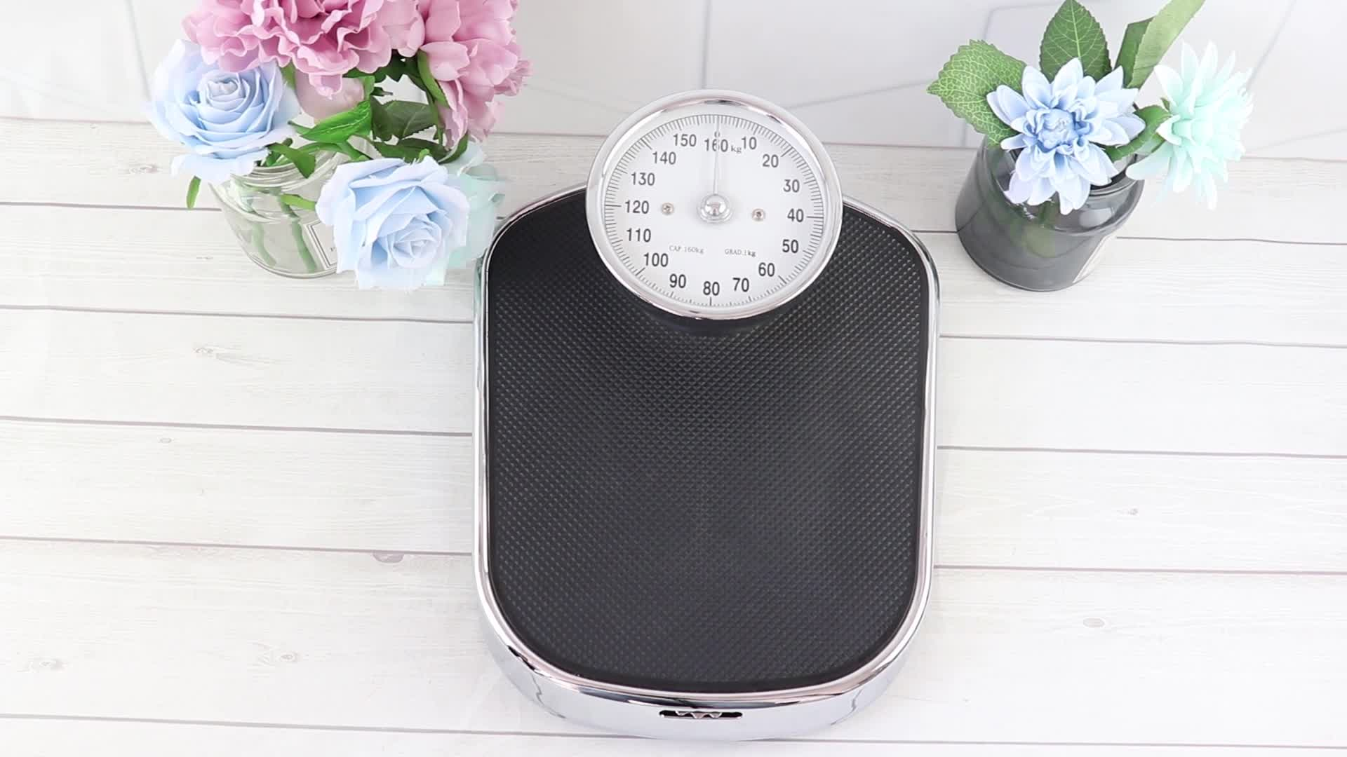 160kg Anti-slip Surface Mechanical Bathroom Body Weighing Scale Weight Scale Machine Medical personal Scale