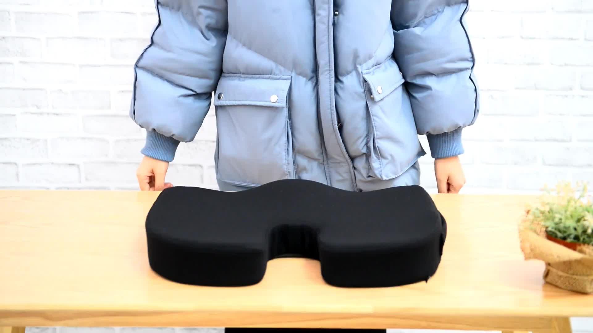 Shinnwa antideslizante Fondo coxis ortopédica cojín silla de oficina cojín al aire libre silla de ruedas de coche de espuma de memoria de Gel cojín del asiento