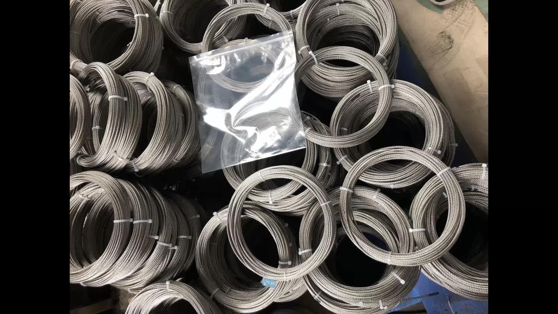 1x9 7x19 1x19 7x7 cable/cuerda de alambre de acero inoxidable 316