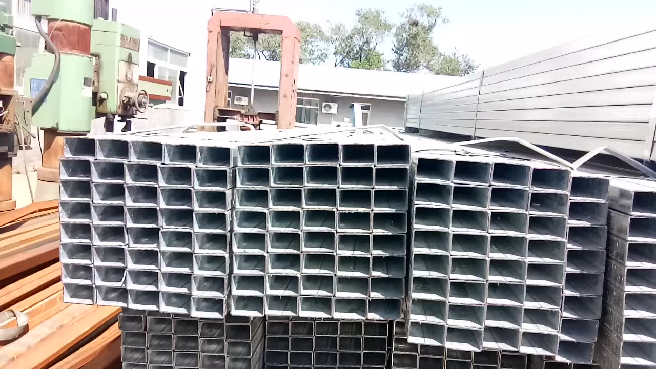 scaffolding pipe parts mild steel hollow pipe hollow section rectangular square pipe