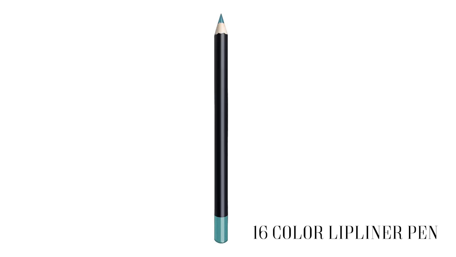 16 kleuren waterdicht custom logo private label wenkbrauw lip liner potlood