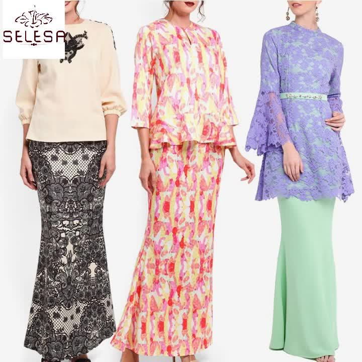 Orta Doğu Jubah Mütevazı Giyim Hindistan Baju Kurung Müslüman islami elbise
