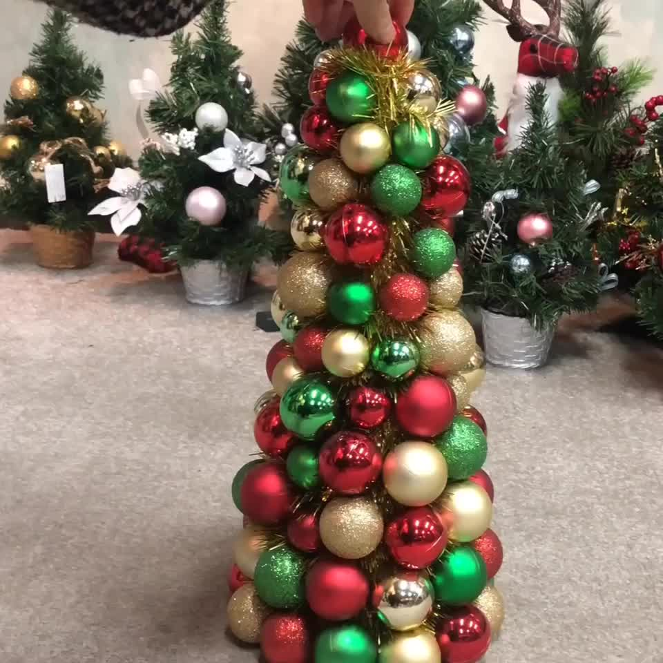 40cm high quality metal frame christmas ball  tree
