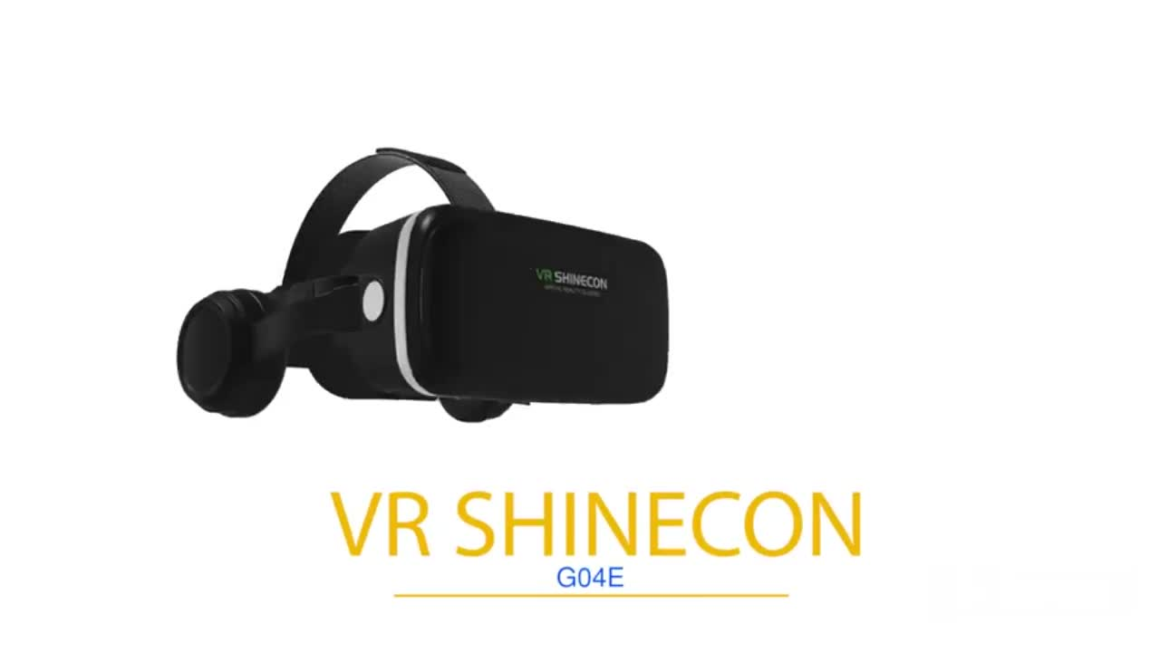 SHINECON 3D VR Glasses Virtual Reality Headset for iPhone & Android Smartphone