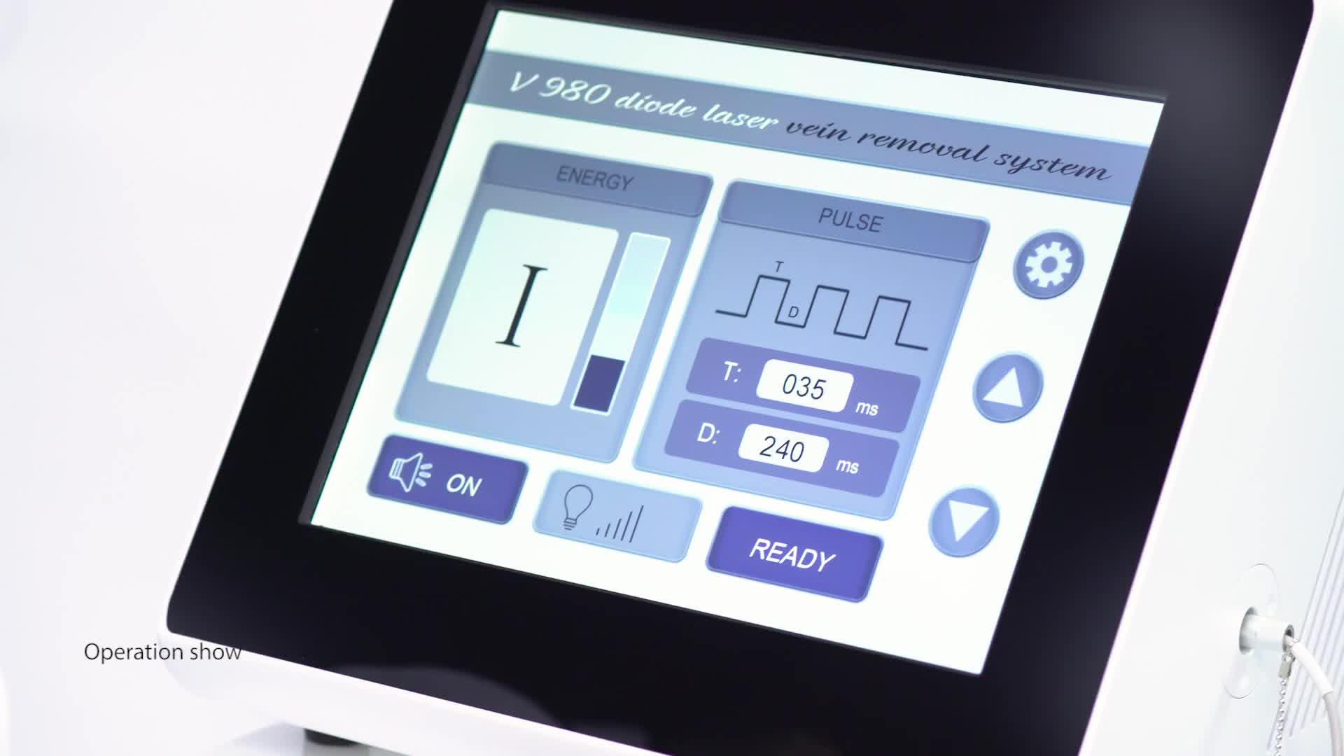 30 W 60 W CE Medico 980nm endovenous vena laser ablazione/EVLT/EVLA dispositivo laser