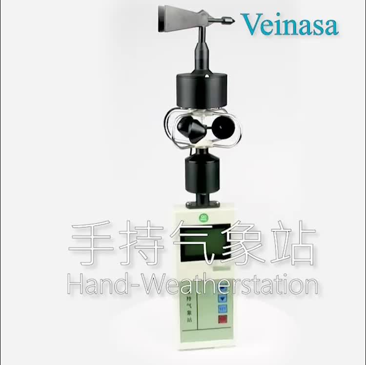 Portable mini weather station equipment handheld anemometer for home and industrial use