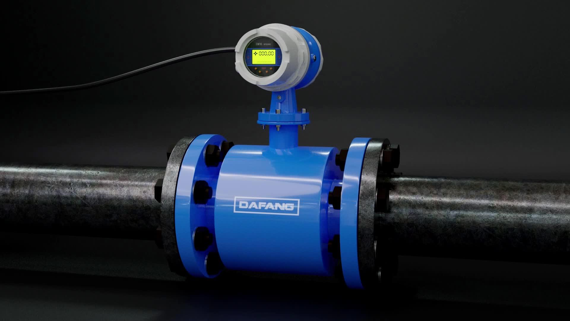 نوع شفة الأنابيب الرقمية هارت 6 inch water جهاز قياس سرعة التدفق الكهرومغناطيسي السعر