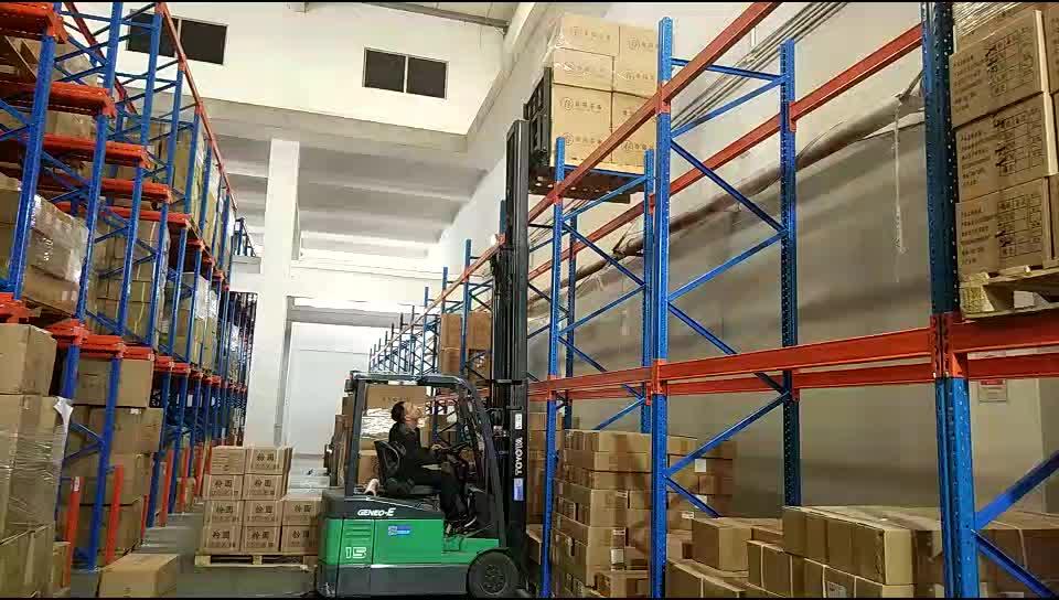Revêtement en poudre industriel d'entrepôt de palette empilable