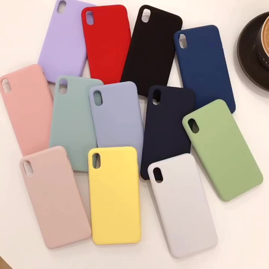 New 2019 Mobile Back Cover Silicone Phone Case For iPhone XR/XS MAX Silicon Case Soft Rubber Shockproof For iPhone 11 Case