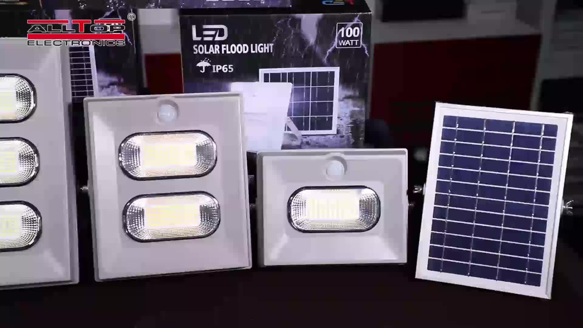 Daqn CE ROHS security  garden explosion proof ip65 50w 100w 150w solar led floodlight