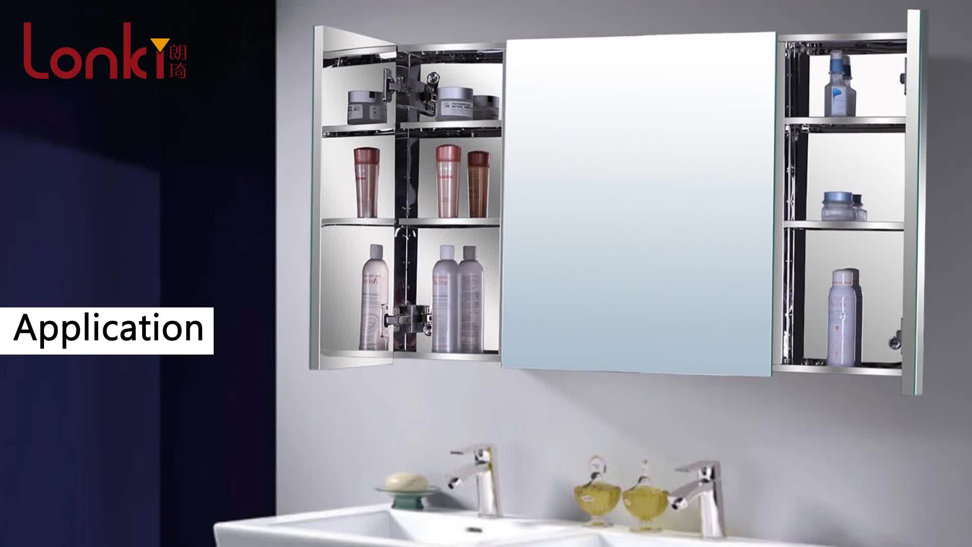 2019 China Stainless Steel Bathroom Mirror Cabinet