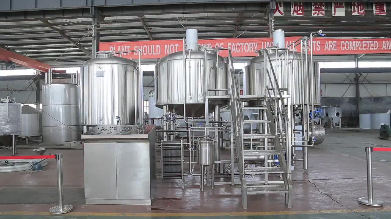 300L 500L1000L Stainless Steel Beer Brewery Equipment Micro Brewing Machine Turnkey Project For Sale