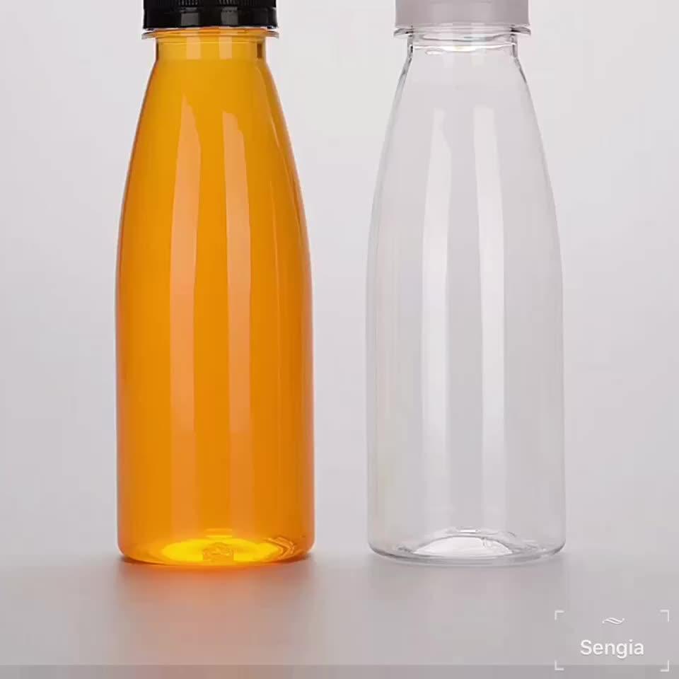 11 oz 330 ml di plastica succo di bere bottiglia di plastica con tappo a prova di manomissione