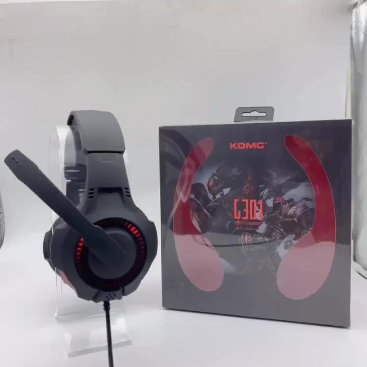 Gaming 3.5mm Headphone Gaming Headset with LED Light for PS4 / Laptop Tablet