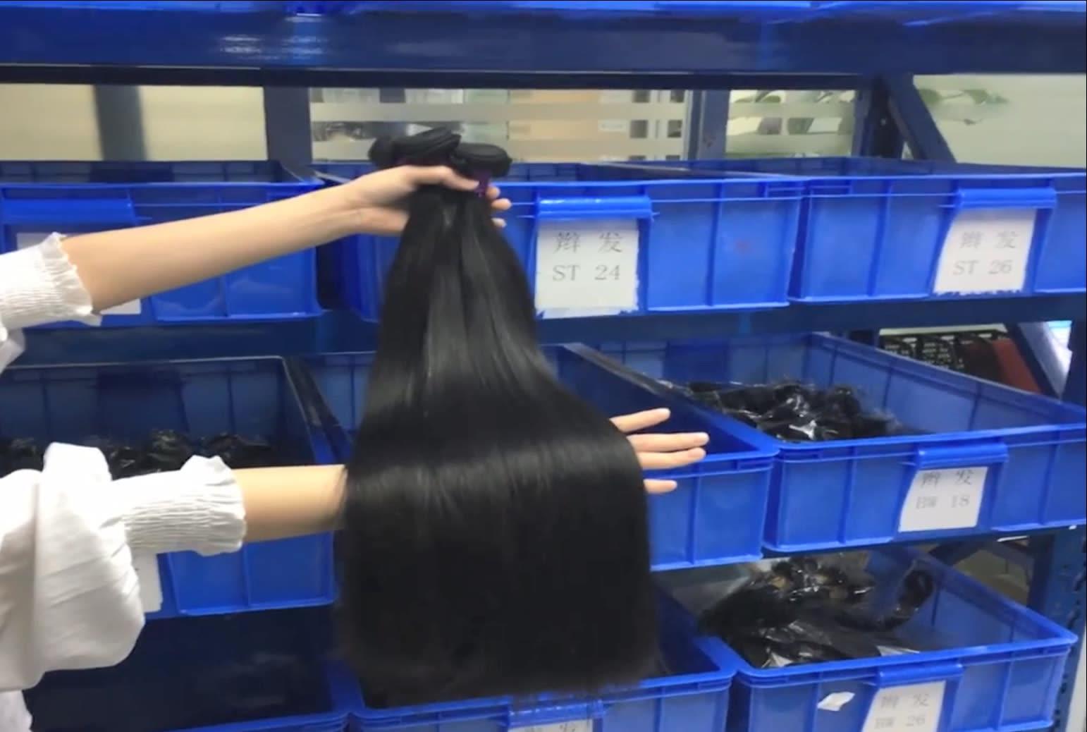 Grosir Baku Remy Rambut Bundel Brazilian Vietnam Rambut Diproses Perawan Rambut Manusia Bundel dengan Penutupan