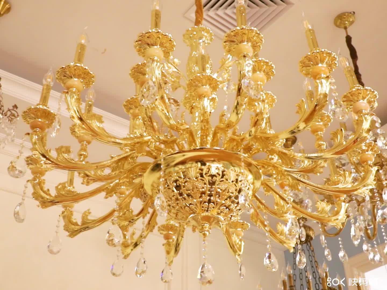 Modern home small decorative chain chandelier k9 crystal chandelier
