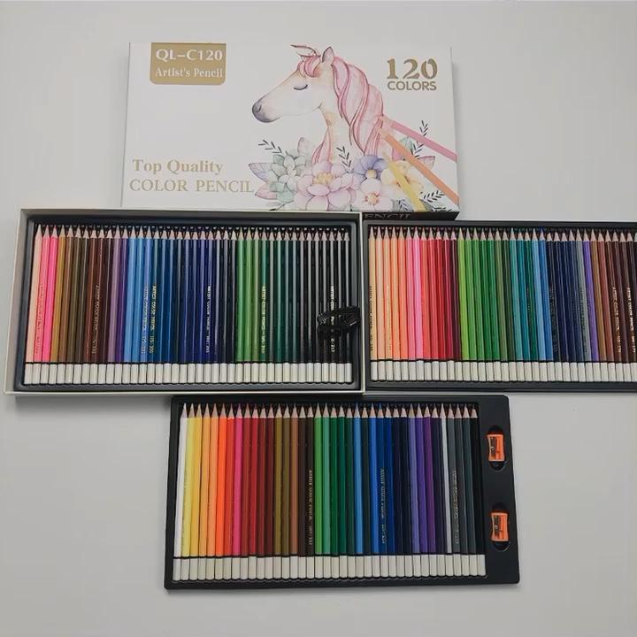 画材 120 色鉛筆セットアーティスト 'oil 搭載ソフトシリーズコア専門家階層化ブレンドとシェーディング