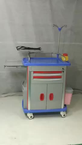 AC-ET031 hospital equipment for the small business medical  emergency trolley equipment function price
