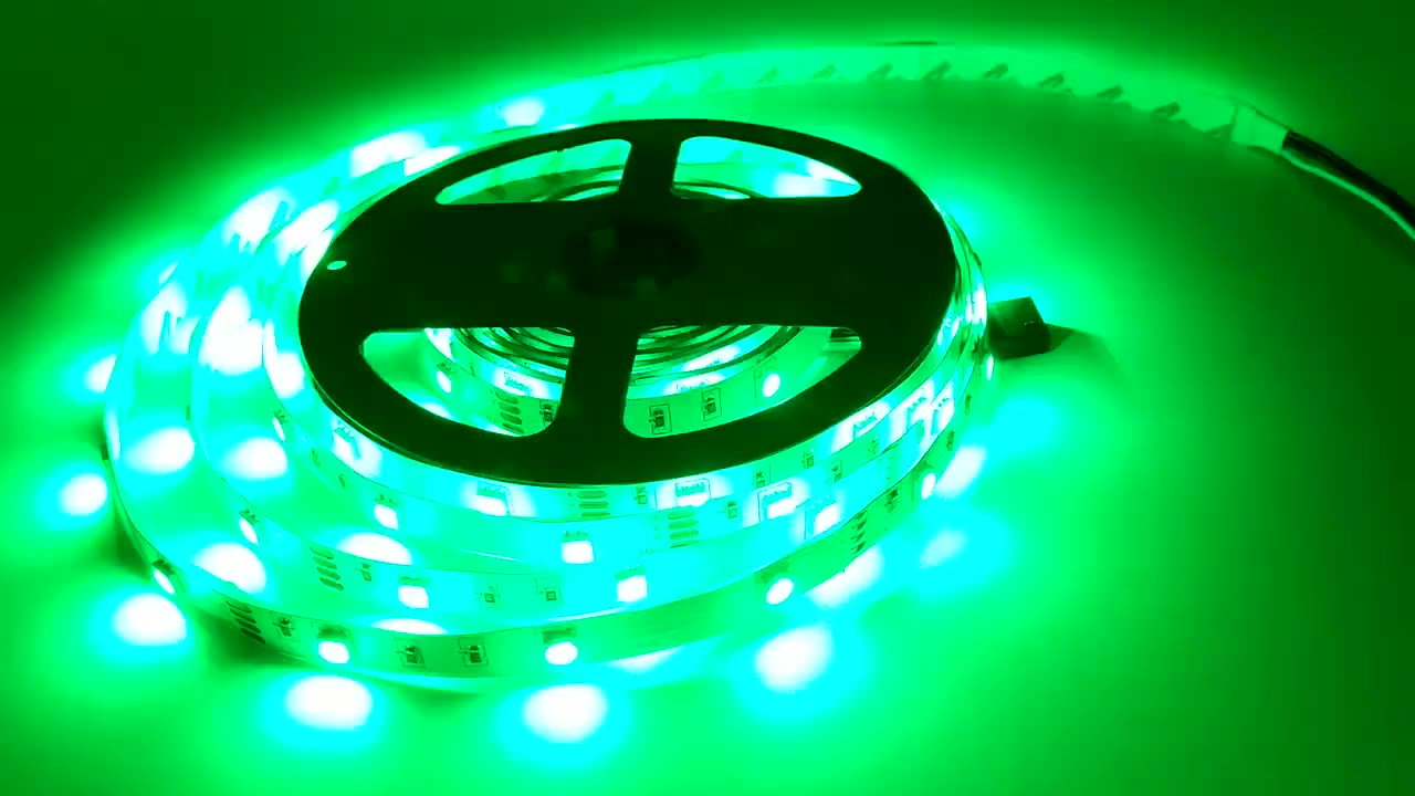Color Changing Flexible Rgb Waterproof Out Led  Strip Light With 24 Key App Remote For Home Lighting Bar Kitchen Bed