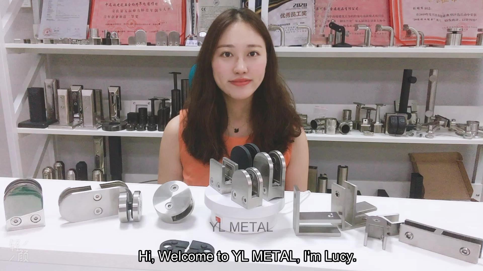 YL Peringkat Teratas Yang Sangat Baik 304 316 Inox Pemasangan Kaca Desain Klem untuk Balkon Kaca Railing Clamp