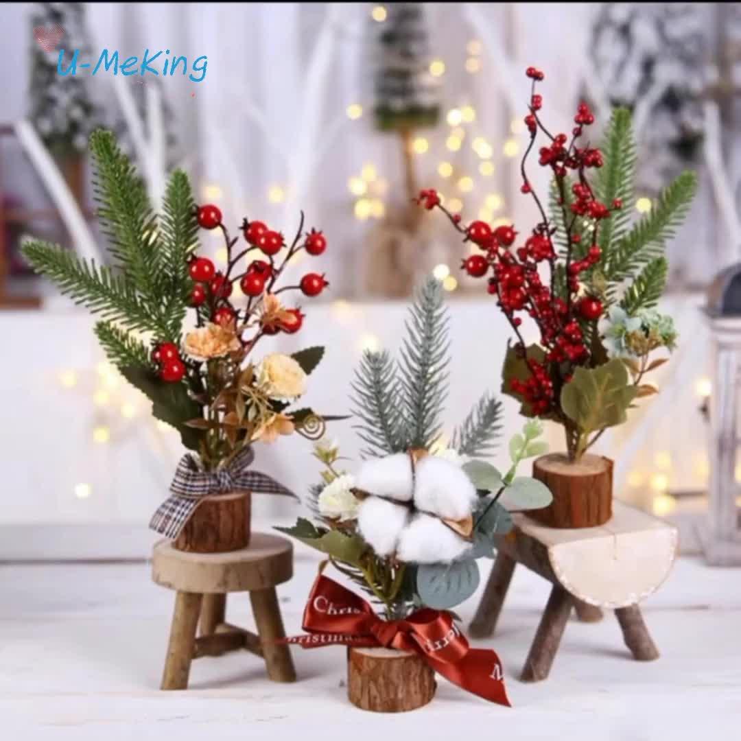 2019 Américain Offre Spéciale Mini 20cm 30cm 40cm arbre De Noël Ornements décoration