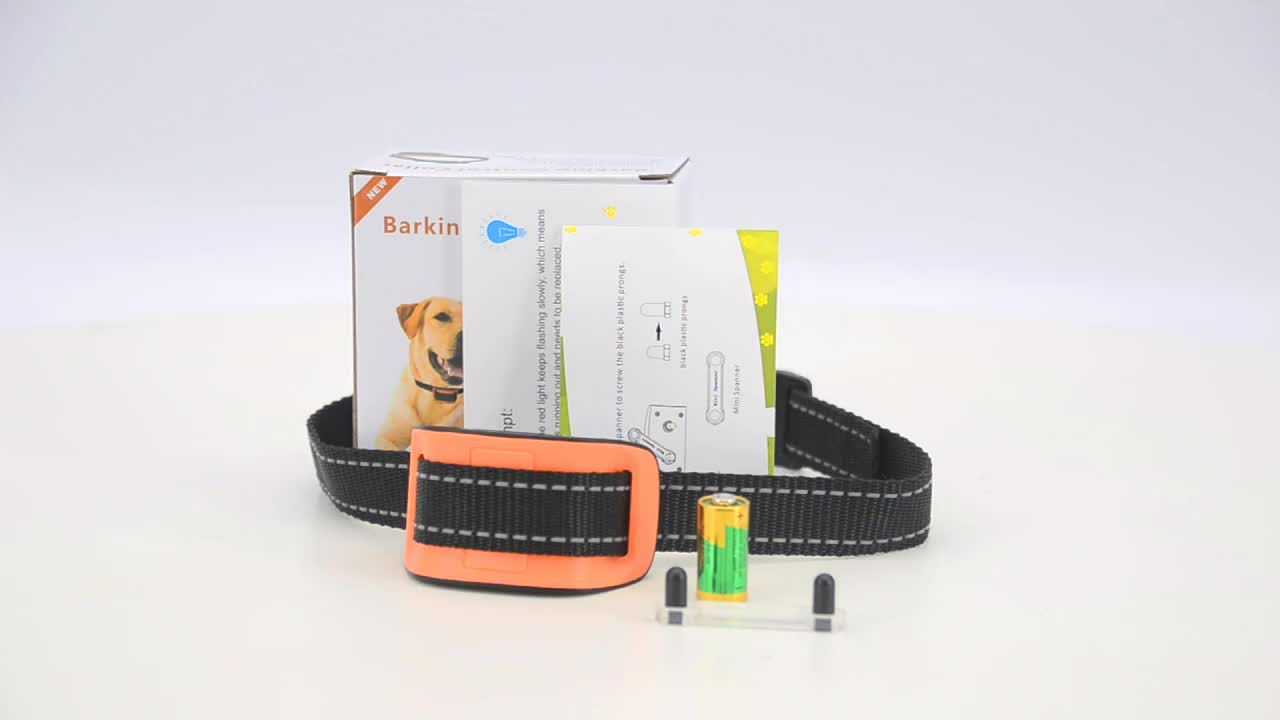 Top Amazon Supplier  Humane Promotional Anti Bark Dog Collar  With Vibration