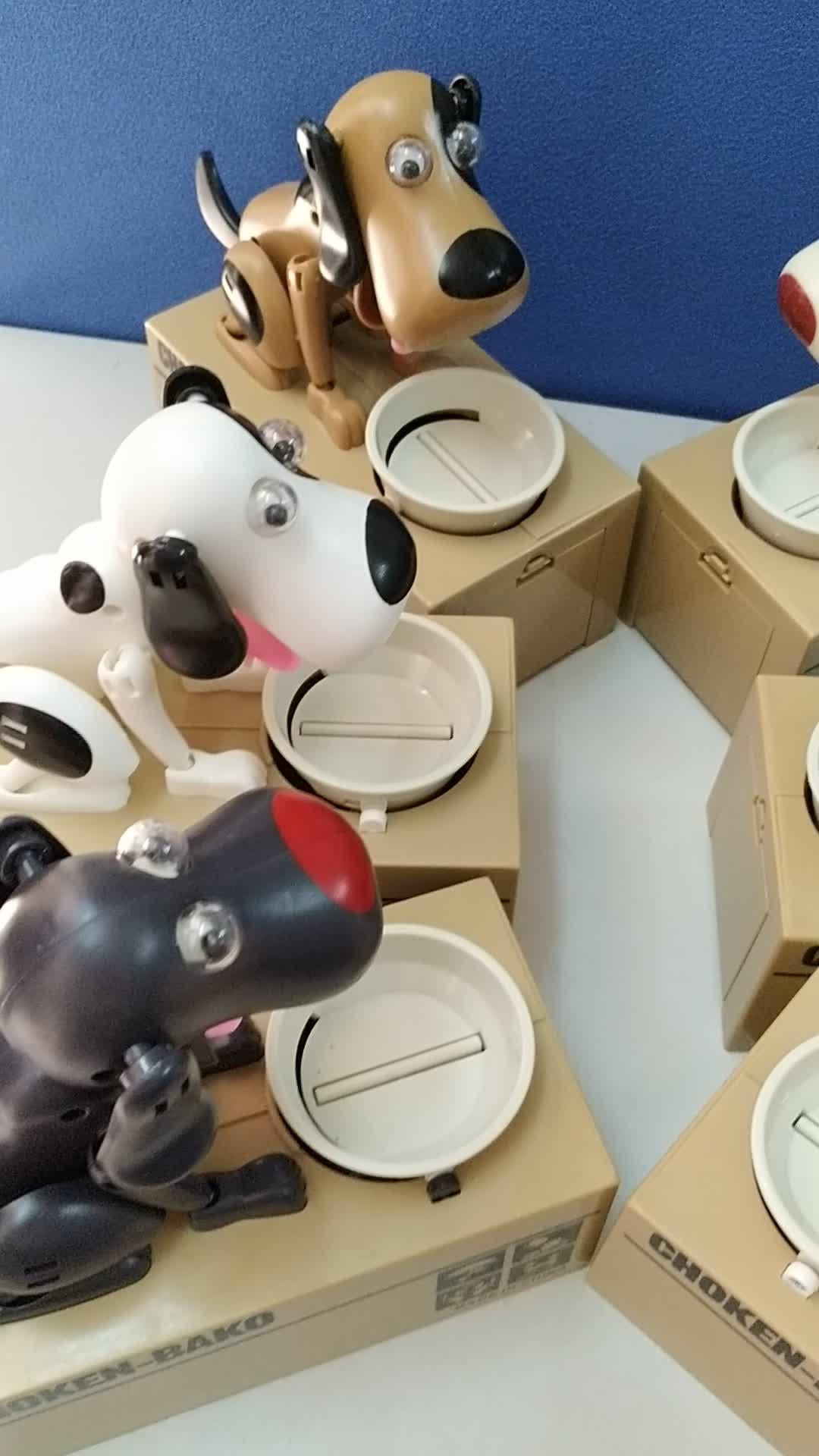 EN71 Robotic Choked Plastic Dog Spardose, die Hundemünzenbankspielzeug isst