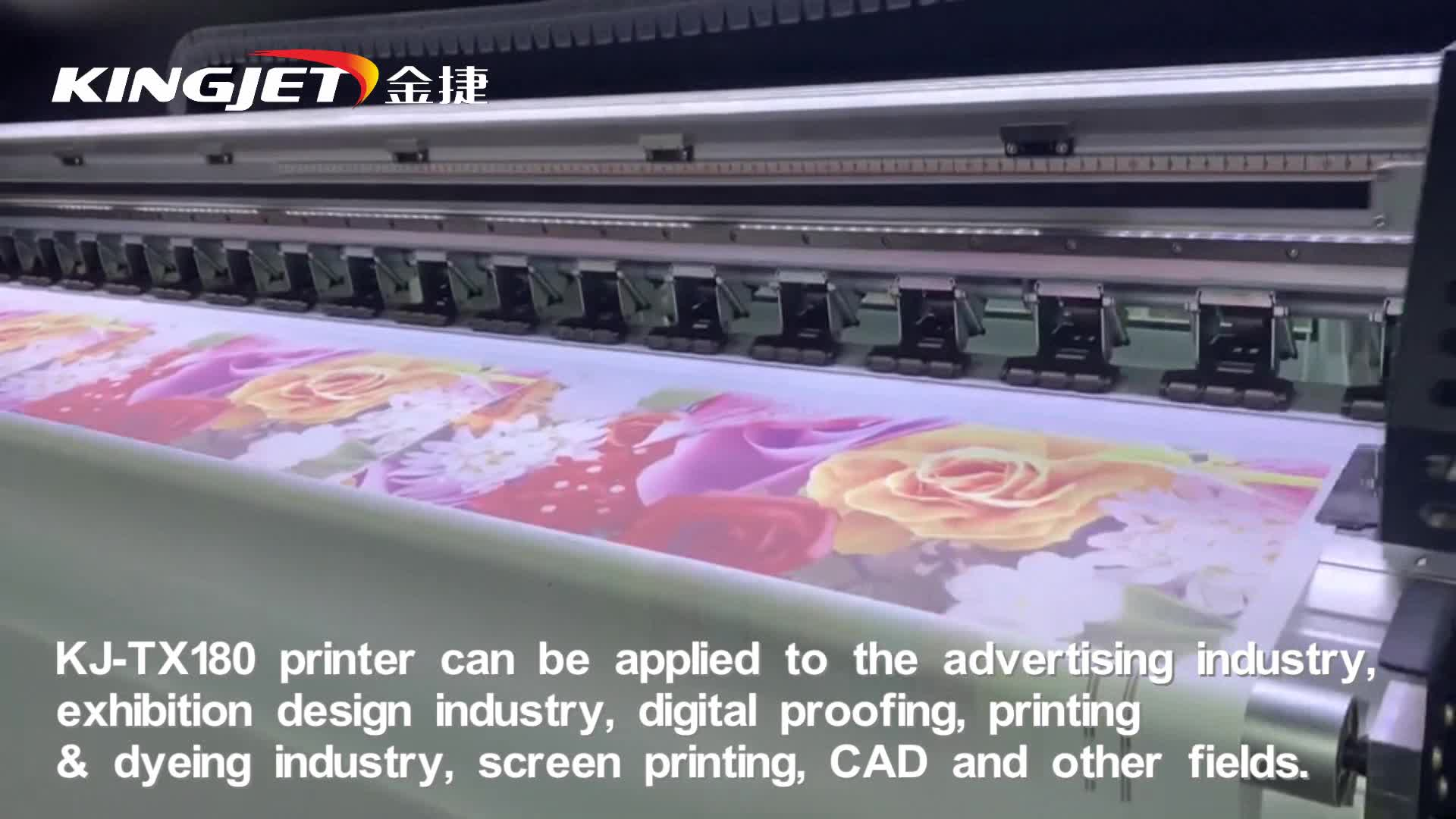 Digital flag cotton fabric printer t shirt dye sublimation textile printing  machine, View cotton fabric printing machine, KingJet Product Details from