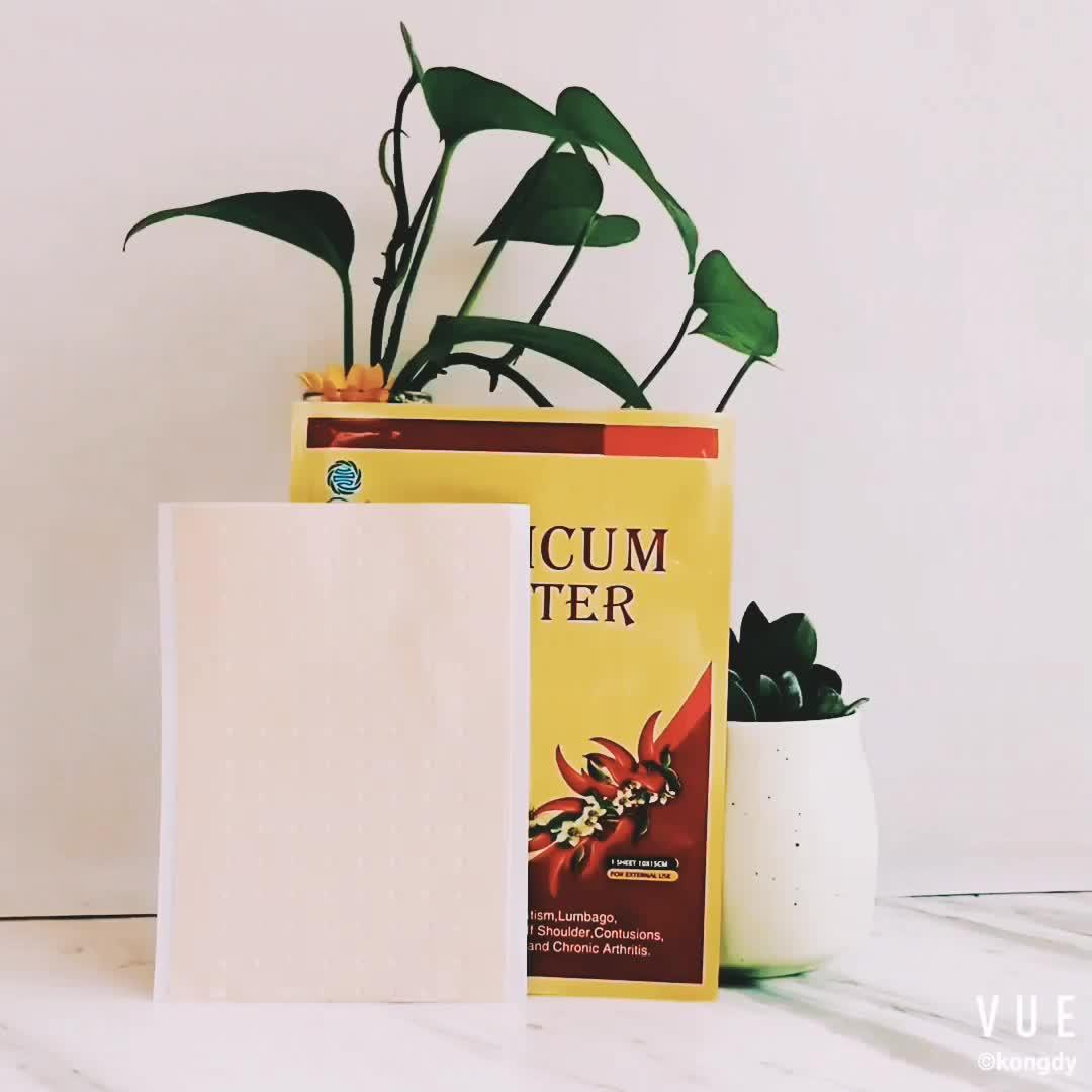 Emplastro quente de alta qualidade do capsicum do fornecedor do ouro para o reumatismo e o lumbago do relevo