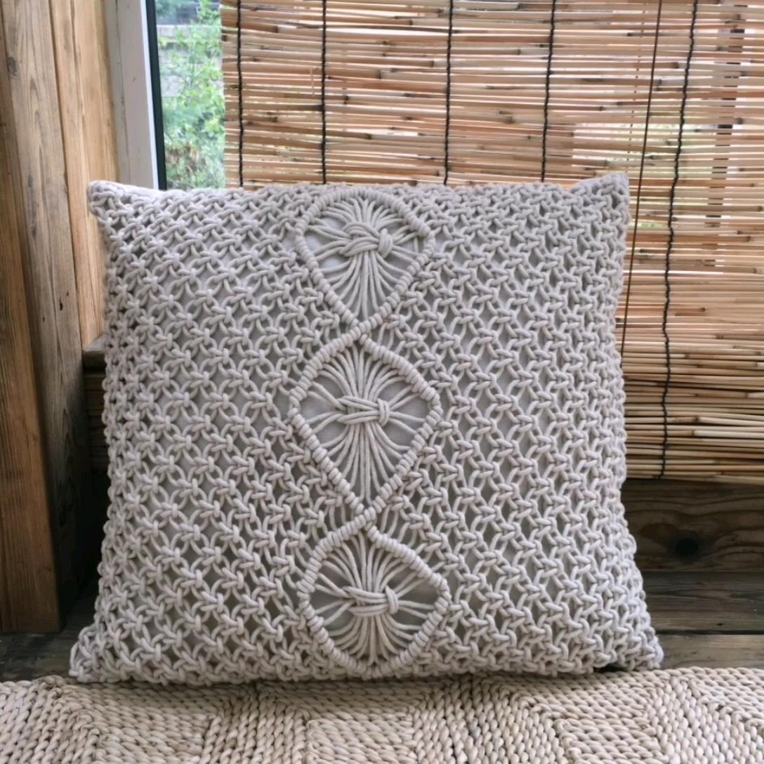 手作り織枕カバー正方形マクラメタッセル枕ケース自由奔放に生きる装飾ケーブルロープクッションカバー