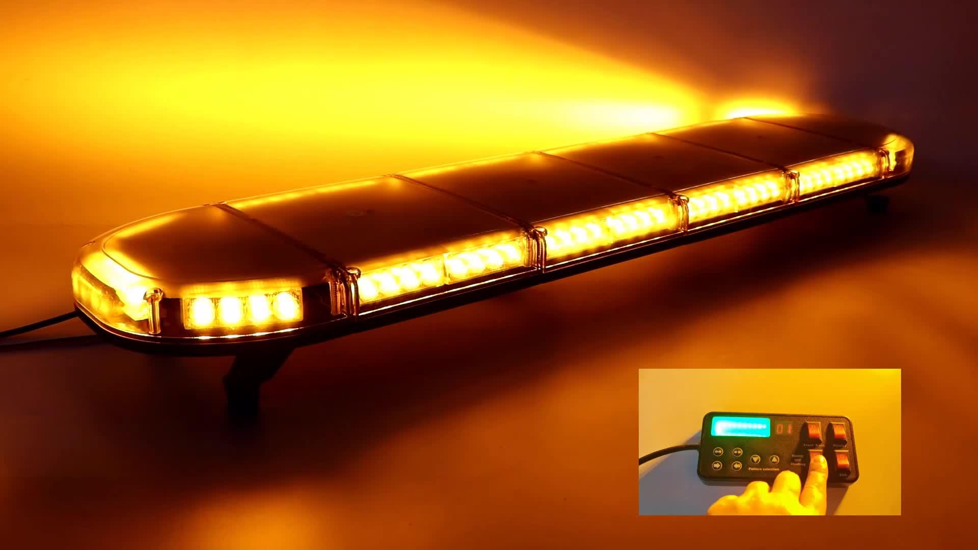 """50 Inch 88W fire truck tower vehicles LED warning strobe light warning LED light bars 50"""" 130cm 12V 24V"""