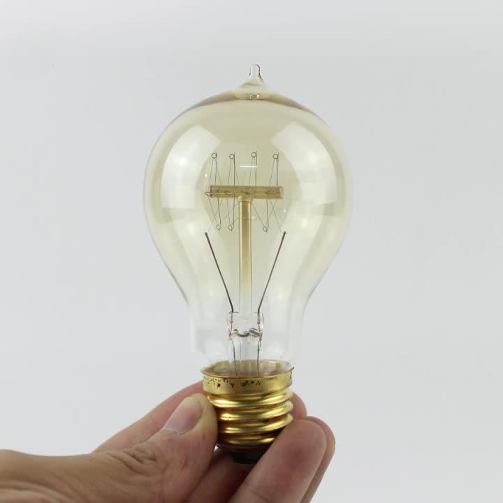 Casa Do Vintage Edison Lâmpada Tipo A19 220V 15W Lâmpada Incandescente