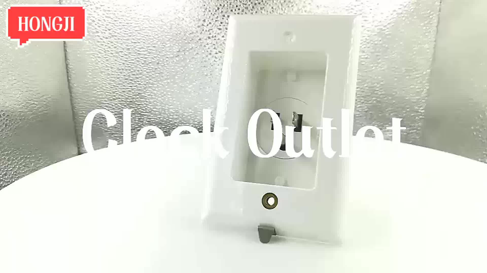 High Quality 1 Gang America Wall Power Recessed Power Inlet