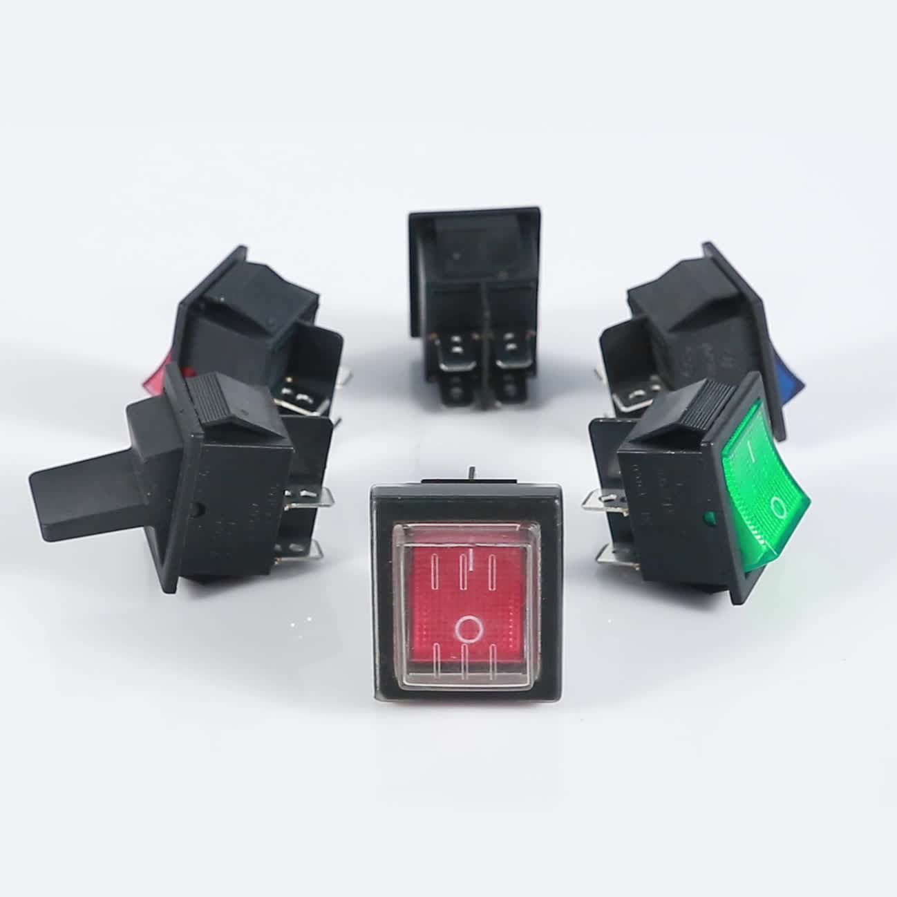 High Quality Wiring Diagram Black 4 Pin On-off 30*22mm Rocker Switch ...
